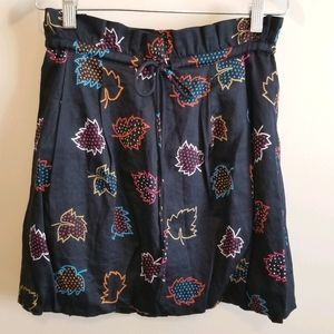 Marc by Marc Jacobs 2 Paperbag Mini Skirt Blue